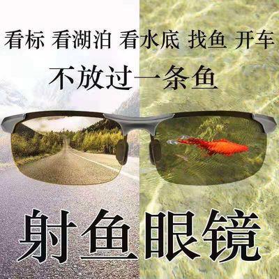 湖泊射鱼眼镜钓鱼开车高清变色偏光太阳镜找鱼看水底专用眼镜墨镜