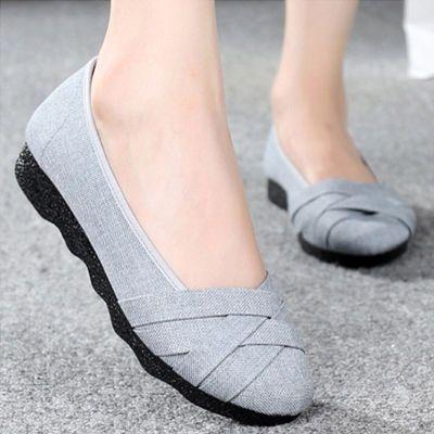 和韵祥女士防滑休闲鞋老北京布鞋 女式布鞋平底软底大码女鞋41-43