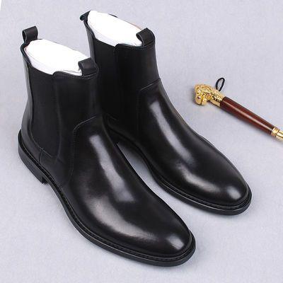 切尔西靴军靴男短靴马靴真皮高帮男鞋英伦男士中筒马丁靴潮男靴子