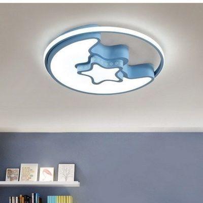 儿童房灯LED马卡龙男女孩公主简约个性圆形吸顶灯卧室灯2020新款