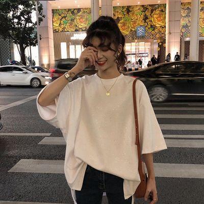2020春夏新款上衣韩版网红亮点女装学生修身短袖T恤女 尊享批发价