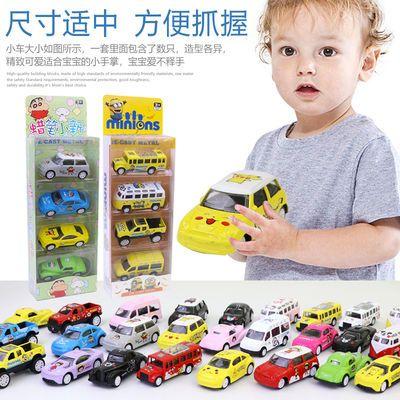 儿童合金车回力车玩具车套装男孩耐摔军事小汽车宝宝迷你小车