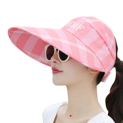 遮阳帽女夏天大沿空顶防晒帽韩版百搭出游太阳帽子夏季女士鸭舌帽