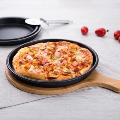 圆形披萨盘套装披萨烤盘6/8/9/10/12寸家用烤箱用不粘模烘焙器具