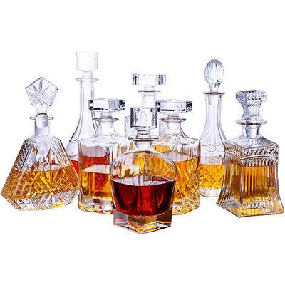 包邮水晶玻璃酒瓶欧式威士忌洋酒酒具酒壶家用套装红酒醒酒器酒樽