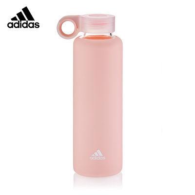 阿迪达斯(adidas)瑜伽水壶玻璃水杯女学生家用粉色韩版ins风