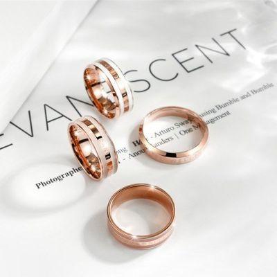 DW戒指新款陶瓷钛钢男女情侣一对戒指简约个性闺蜜指环欧美风刻字
