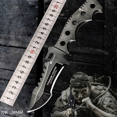 汉道三叉戟户外特战战术高硬度直刀求生军刀防身随身刀具户外小刀