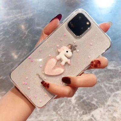 苹果7plus/8/xr卡通手机壳x透明iPhone11硅胶xsmas防摔软套6s女8p