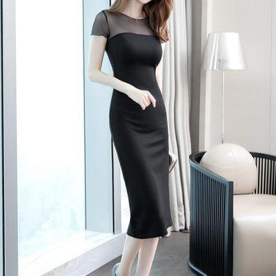 夏季女装2020新款气质通勤性感修身显瘦中长款OL职业包臀连衣裙