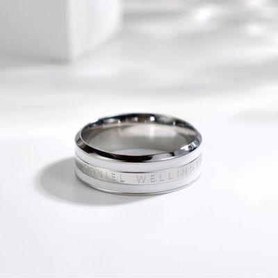 新款戒指男女情侣简约个性闺蜜指欧美指时尚陶瓷饰品轻奢DW对戒