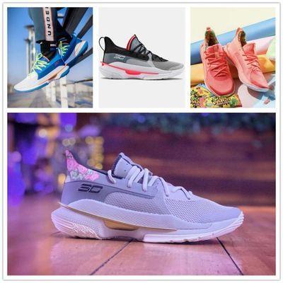 库里7代篮球鞋Curry7 首发黑灰荧光绿珊瑚圣诞节媒体日库里6