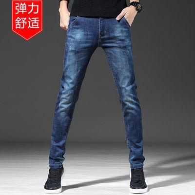夏季休闲牛仔裤男青年男士弹力修身长裤青少年韩版小脚裤潮流男装