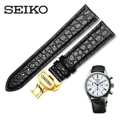 代用精工SEIKO-Grand Seiko系列 SBGX295J SPB085J男女鳄鱼皮表带