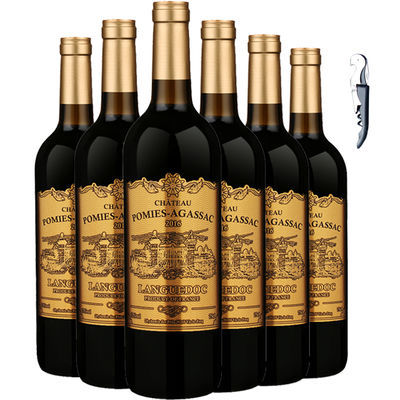 【波密斯】法国原瓶进口红酒干红葡萄酒双支礼品6支整箱多款可选
