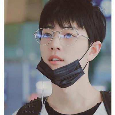 肖战同款近视眼镜女潮韩版有度数时尚眼镜男抖音圆形厚边学生眼镜