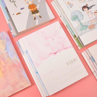 【4本装】文具A5笔记本32K车线本30张韩国记事本创意学生作业本