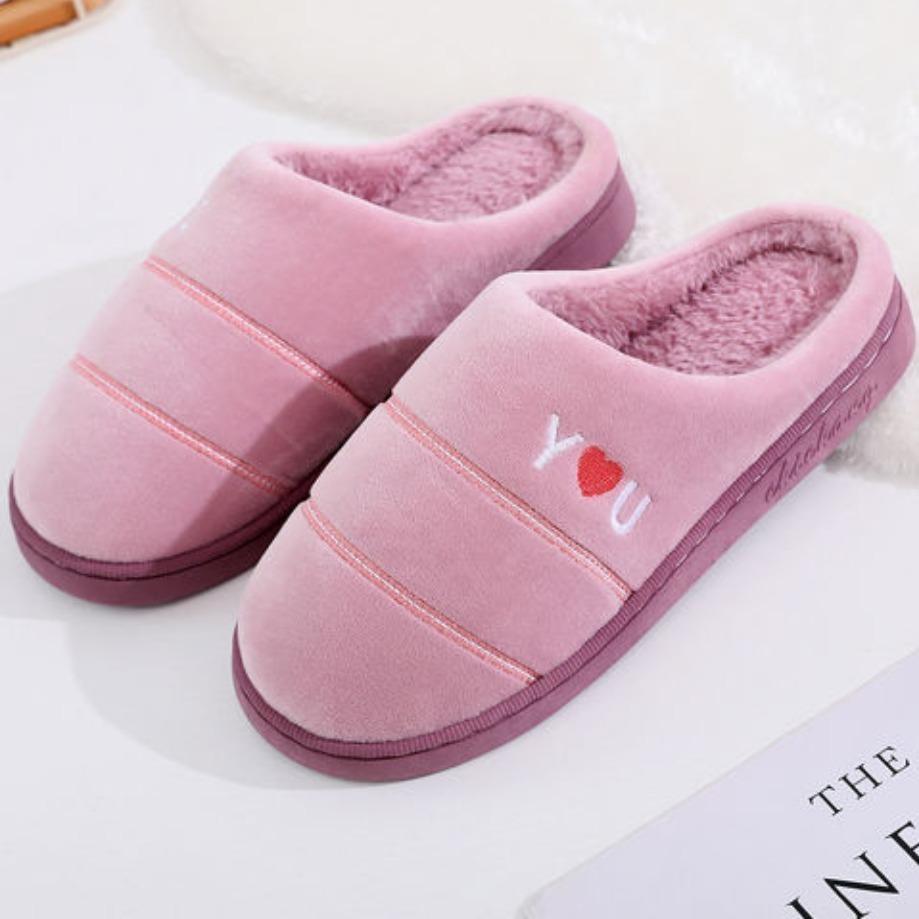 棉拖鞋女居家冬季室内2019新款月子鞋包跟家居防滑保暖毛绒拖鞋男