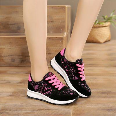 平跟女鞋中大童运动鞋初中学生单鞋防滑跑步鞋皮面黑色板鞋平底鞋