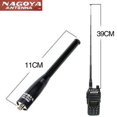 名古屋NA-771R拉杆天线高增益UV双段对讲机手台SMA母头公头BNC头