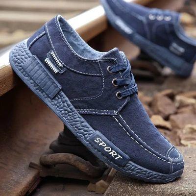2020春季新款男士帆布鞋工作鞋男韩版潮流老北京布鞋男休闲板鞋子