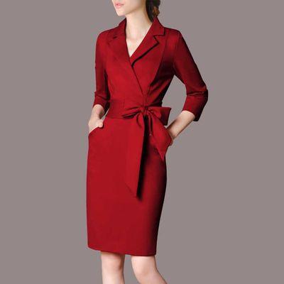 职业装女装套装春装工作服连衣裙修身时尚OL正装气质工装套装裙秋