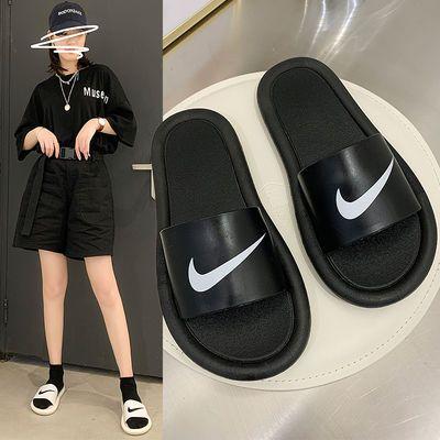 新款拖鞋女夏外穿网红学生韩版情侣时尚室内平底防滑一字凉拖鞋潮