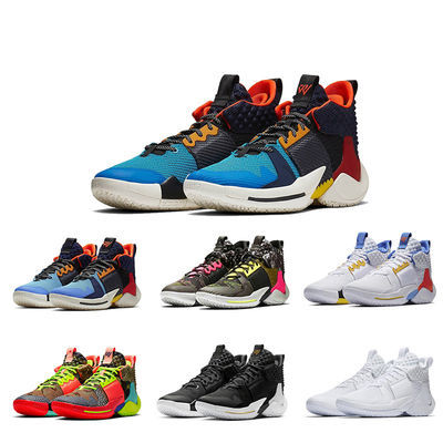 新款威少2代篮球鞋首发雷霆主场粉色鸳鸯全明星黑人月实战篮球鞋