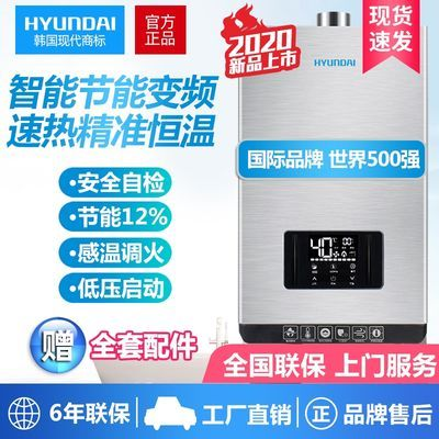 HYUNDAI/韩国现代 燃气热水器家用8/10/12/14/16升天然液化气煤气