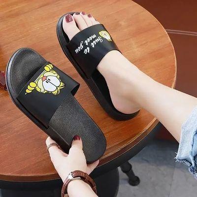 新款开心猫室内拖鞋家居情侣拖鞋女夏外穿时尚百搭凉鞋女学生韩版