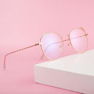 猫耳朵眼镜女学生韩版潮抖音同款防蓝光辐射平光镜复古超轻近视镜