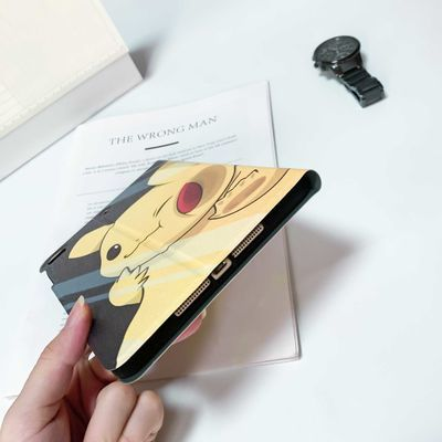 2018iPadair2平板保护套mini4皮卡丘5可爱pro10.5卡通6休眠软壳