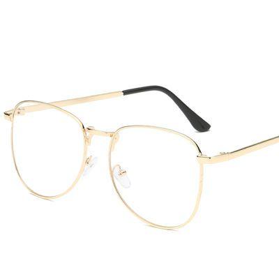 费启鸣同款平光镜无度数韩版大框眼镜男女显瘦复古文艺近视眼镜潮