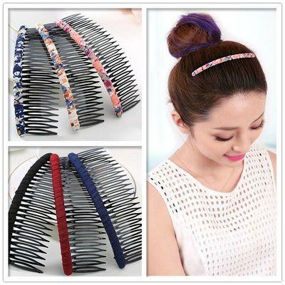 3个装刘海梳多款可选日韩版盘发带齿发箍发卡发梳夹子插梳头饰品