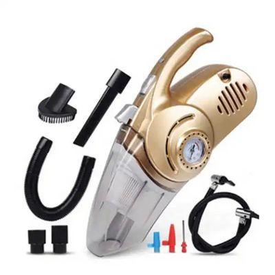 四合一车载吸尘器充气泵汽车打气泵12V车用干湿两用照明大功率
