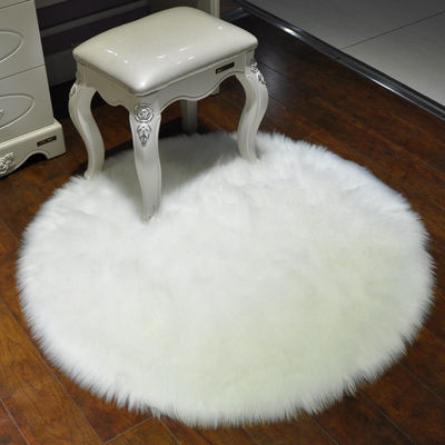 白色毛毛床边卧室满铺可爱仿羊毛飘窗长毛地垫客厅橱窗毯