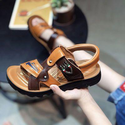 男童凉鞋2020夏季大童凉鞋时尚耐磨轻便软底防水魔术贴沙滩凉鞋