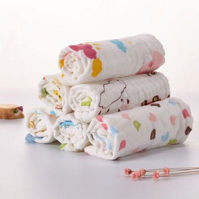 【热卖】6层A类纯棉纱布婴儿小毛巾洗脸巾手帕方巾口水巾哺乳手绢