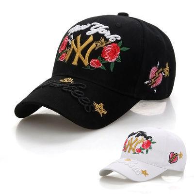 帽子男夏天NY款韩版棒球帽潮人帽子男女学生休闲百搭太阳帽女