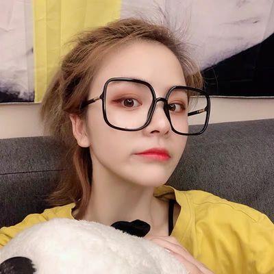 防辐射近视眼镜女韩版潮黑框复古圆脸眼睛框镜架男可配成品网红款
