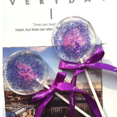 高颜值INS网红零食紫色烟花可爱棒棒糖礼盒装 创意喜糖礼物伴手礼