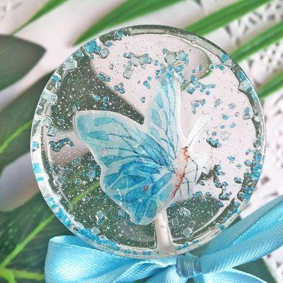 高颜值INS网红零食星空棒棒糖礼盒 个性创意喜糖蓝色蝴蝶糖果