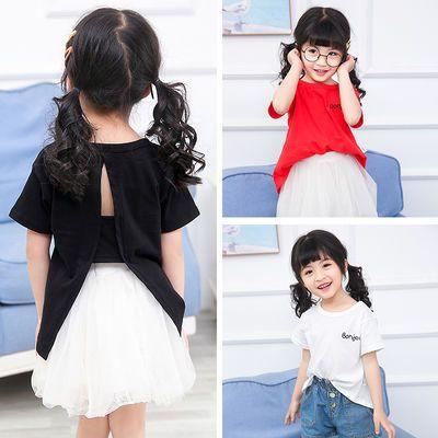 2020新款纯棉韩版洋气女童宝宝短袖T恤儿童装小童夏季衣服1-3-5岁