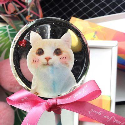 星空棒棒糖手工可爱猫咪棒棒糖INS网红零食 创意喜糖伴手礼物