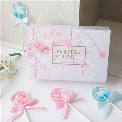 樱花棒棒糖水晶星空糖礼盒装网红少女心零食高颜值生日礼物送女友