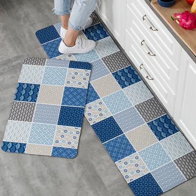 可擦洗pvc皮革厨房防滑垫浴室方形地垫防油防水脚垫家用