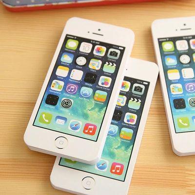 16本  逼真文具便签本 苹果5S手机便签本 记事本 学生奖品小本子