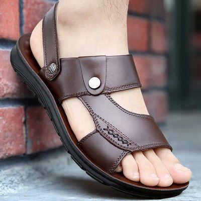男凉鞋2020夏季新款露趾青年沙滩鞋两用中年凉拖鞋防滑男士凉拖鞋