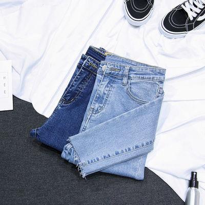 高腰牛仔裤女显瘦显高修身小脚2020新款春夏季弹力紧身铅笔裤女潮