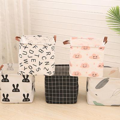 【可选顺丰配送】家用布艺方形棉麻收纳脏衣篓脏衣篮折叠特大号放